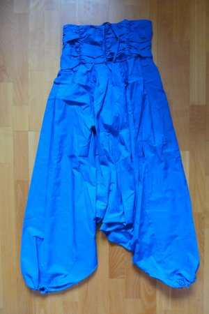 Boho Ethno Indien Jumpsuit Onesie Neckholder blau Gr. S/M neu