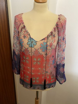 Single Blusa de túnica multicolor