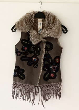Desigual Fringed Vest multicolored