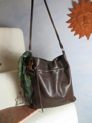 Vintage Hobotas donkerpaars-donkerbruin Leer