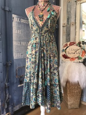 Hippie Dress multicolored silk
