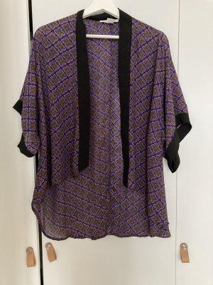 Sans Souci Kimono Blouse black-lilac