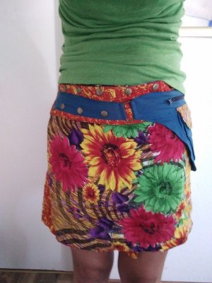 Miniskirt multicolored cotton