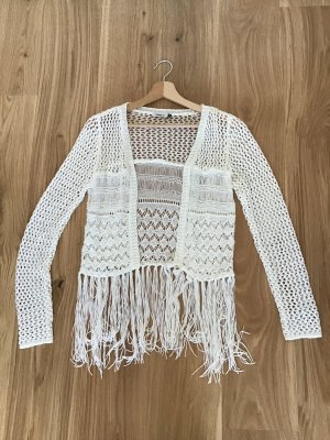 Only Cardigan all'uncinetto bianco