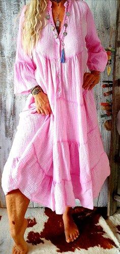 Sukienka boho różowy Bawełna