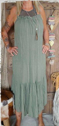 hippie chick ibiza Abito hippie grigio-verde-cachi