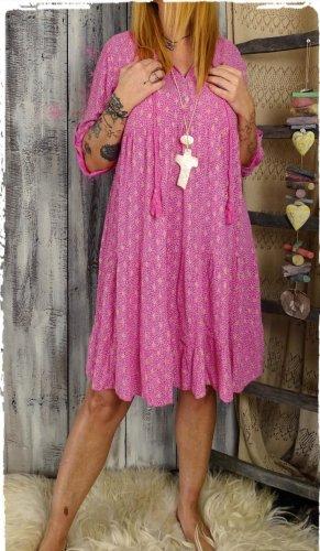 boho Hippie Kleid pink