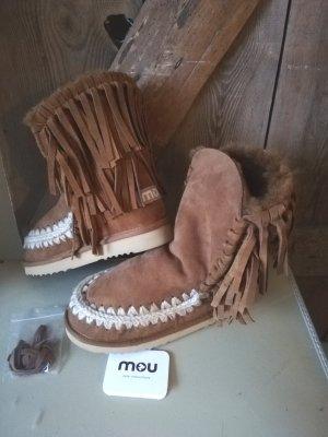 boho Hippie Leder Fransen Boots Mou