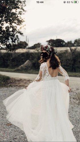Modeca Robe de mariée crème-blanc dentelle