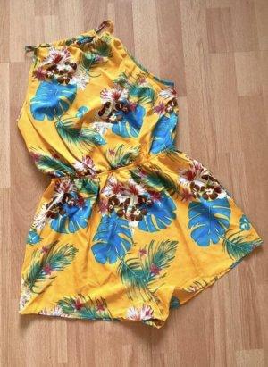 Boho Jumpsuit in Curry mit Blumenprint