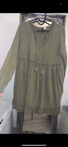H&M Divided Sukienka boho zielono-szary