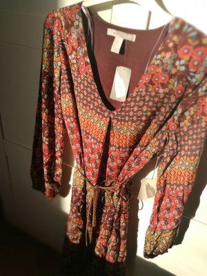 Forever 21 Robe à manches longues brun-orange