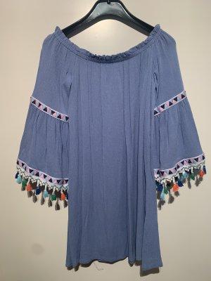 Boho Kleid Blau S
