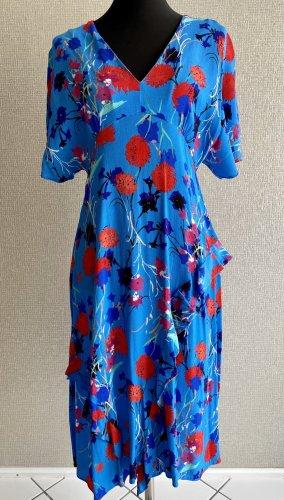 Boho Kleid mit Blumenprint von Zara
