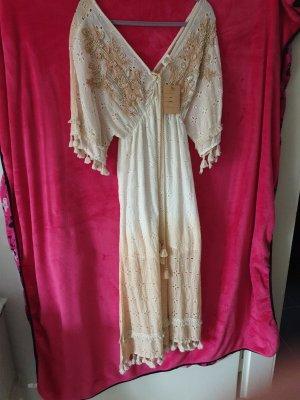 Boho Kleid mit Holzperlen,quasten,super verspielter look,Neu