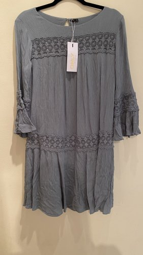 Only Robe d'été bleu pâle-gris vert viscose