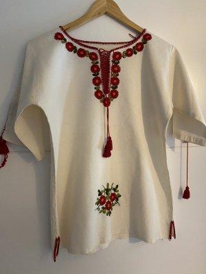 Boho Mexikanische Bluse Handbestickt
