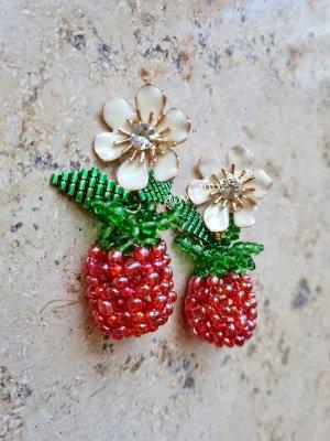 Boho Ohrringe * Himbeeren * handmade