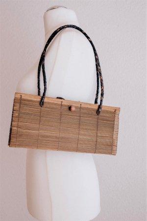 Boho retro vintage Basttasche Schulter Handtasche beige braun