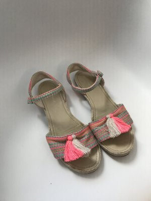 Zara Strapped Sandals multicolored cotton