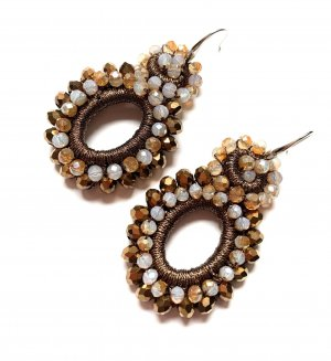 Boho Schick Ohrringe Trend Bronze Elegant Funkeln