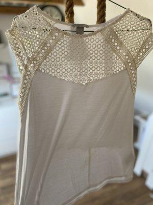 H&M Crochet Shirt white