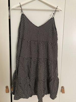 Boho Sommerkleid Schwarz/Weiß