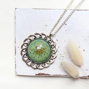 Boho Sonne • Halskette silber   Blumenschmuck   Vintage   Halsschmuck