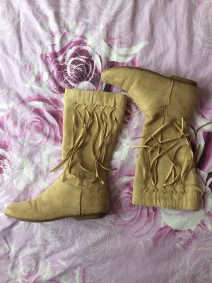 3 Suisses Short Boots beige polyester