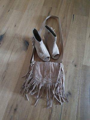 Graceland Décolleté con zeppa marrone-grigio