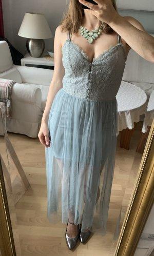 Boho Stil Kleid mit Spitze und Tüll