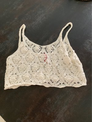 H&M Crochet Top natural white
