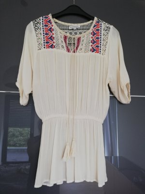 Boho Tunika Minikleid mit Stickerei