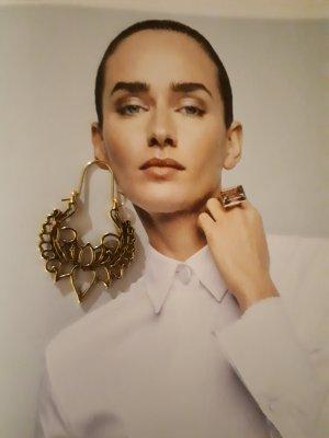 Boho Vintage Ohrringe Gold ungetragen