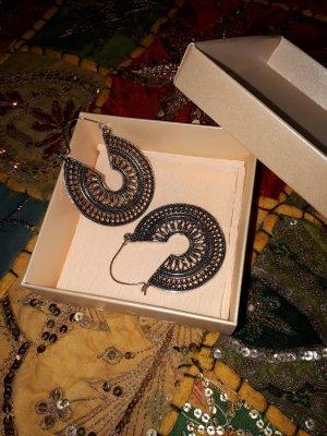 Vintage Boucles d'oreilles en argent argenté