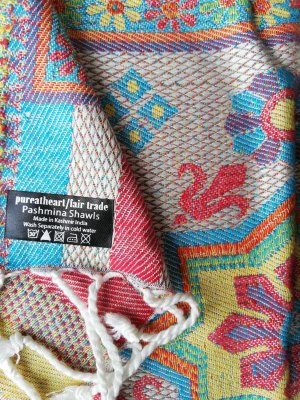 Boho Wendeschal/Wendetuch aus Pashmina - Fair trade made in Kashmir