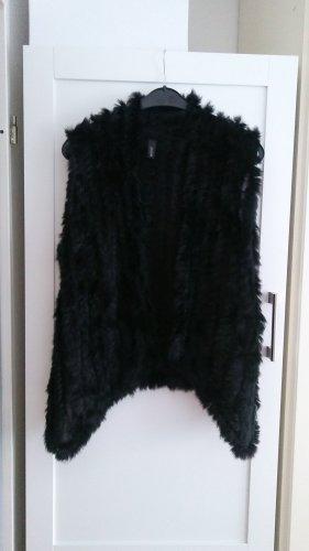 Soyaconcept Fur vest black mohair