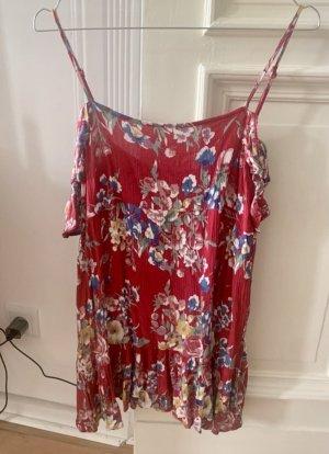 Auguste Sukienka boho czerwony neonowy