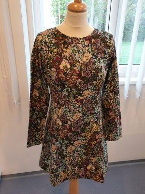 Zara Vestido línea A multicolor