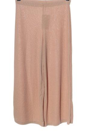 Bohoo Spodnie 7/8 nude Warkoczowy wzór W stylu casual