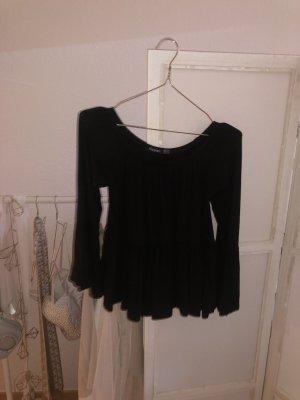 Bohoo Carmen blouse zwart