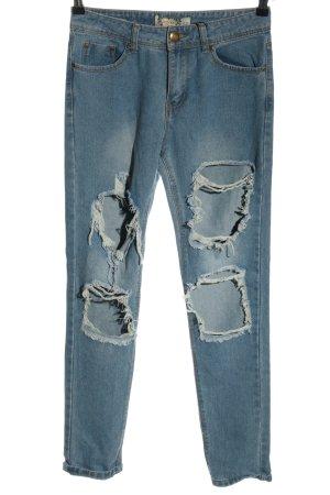 Bohoo Jeansy z wysokim stanem niebieski W stylu casual