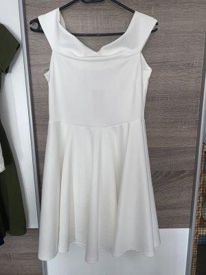Bohoo Off-The-Shoulder Dress white