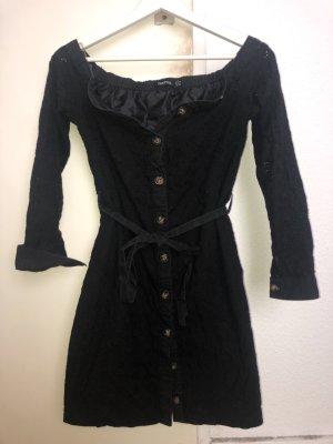 Bohoo Robe épaules nues noir