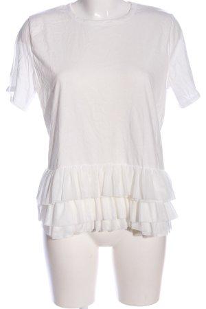 Bohoo Blouse à manches courtes blanc cassé style décontracté
