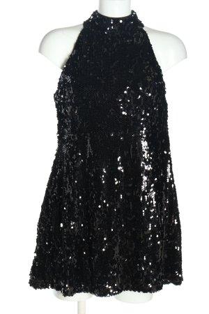 Bohoo Sequin Dress black wet-look