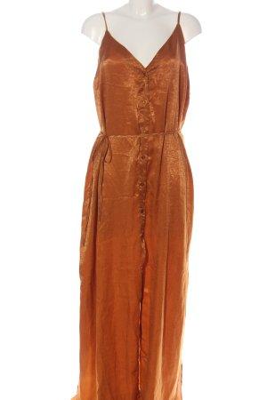 Bohoo Robe d'été orange clair élégant