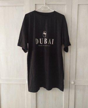 Bohoo T-shirt jurk zwart-wit