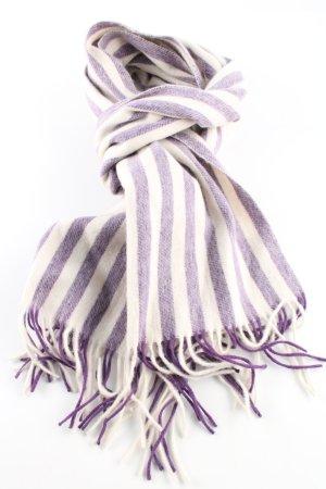 Boldog & Laube Sciarpa di lana lilla-bianco sporco motivo a righe stile casual
