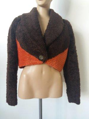 Blazer en laine cognac-orange laine